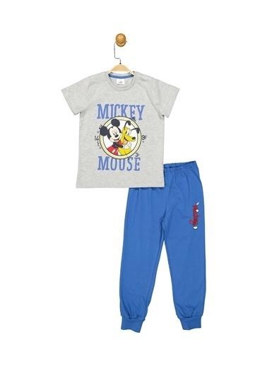 Mickey Mouse  Lisanslı Çocuk Takım 18071 Gri